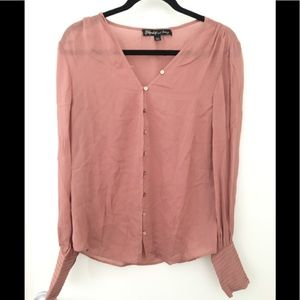 Dusty pink button up